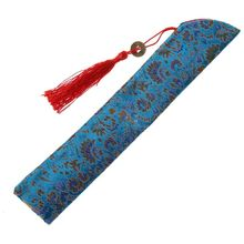 Hand-Fan-Bag Folding Dustproof-Holder Tassel Silk Retro-Style Chinese with Protector