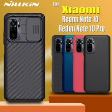 for Xiaomi Redmi Note 10 Pro Max 10s Case NILLKIN Slide Camera Lens Protect Privacy Frosted Textured Fiber Cover on Redmi Note10