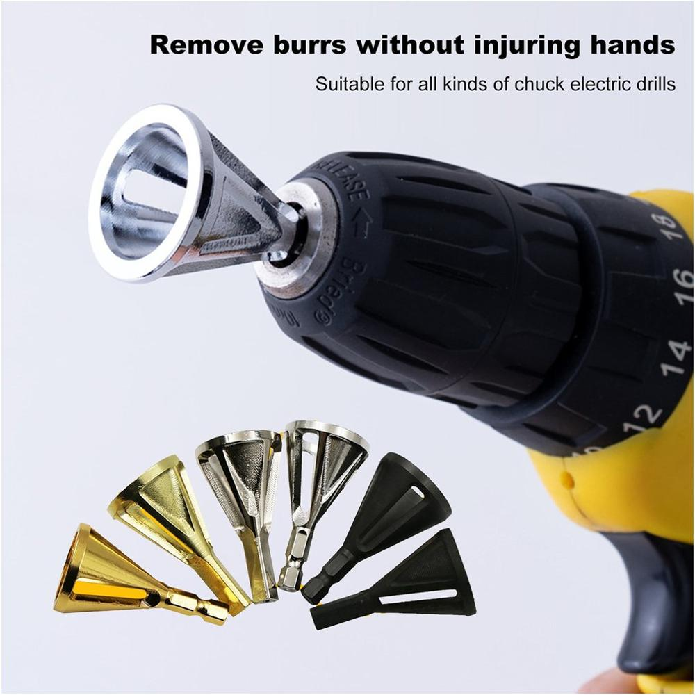 Hex Triangle Shank Remove Burr Tools For Drill Bit Wood Drilling Deburring External Chamfer Tool Grinding Trimming Tool