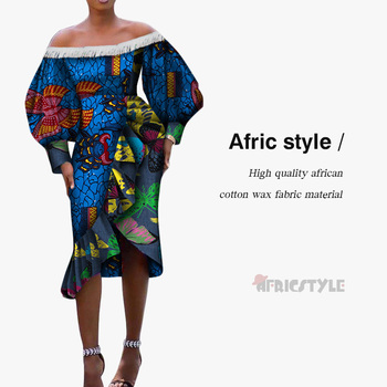 Dashiki african dresses for women off shoulders party dress new fashion africa christmas dress WY5325