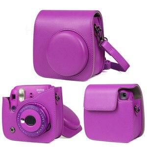 Image 2 - 2019 Новый чехол для камеры Fujifilm Instax Mini, сумка из искусственной кожи с плечевым ремнем для Polaroid Instax Mini 9 8 + 8