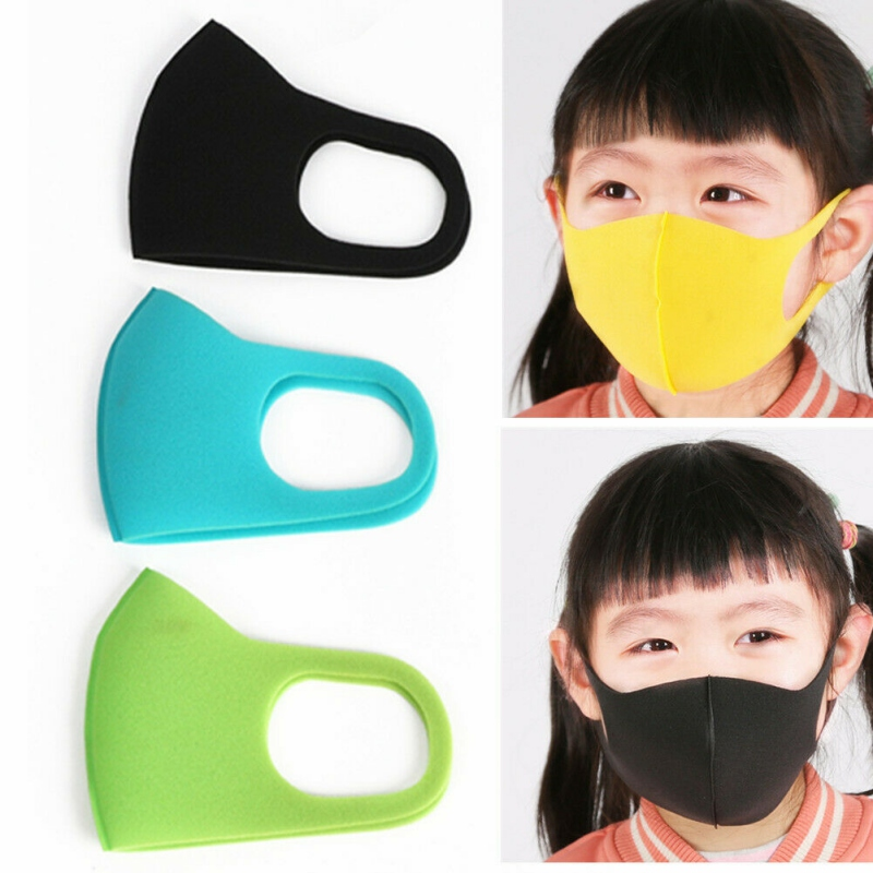 3pcs Kids Children Anti Dust Mouth Mask Sponge Windproof Mouth-muffle Face Masks Children Mask Colorful Washable And Reusable
