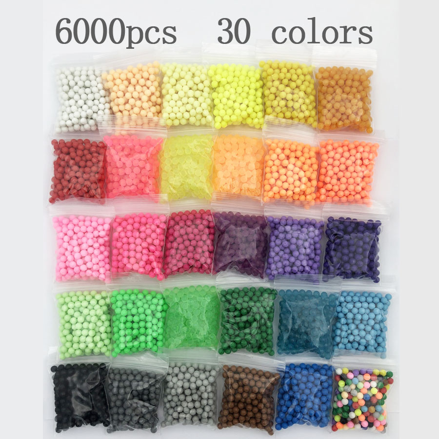 30 Colors/water Beads Puzzle Crystal Color Aqua DIY Magic Beads Hama Beads Spray Ball Games 3D Handmade Magic Toy For Children