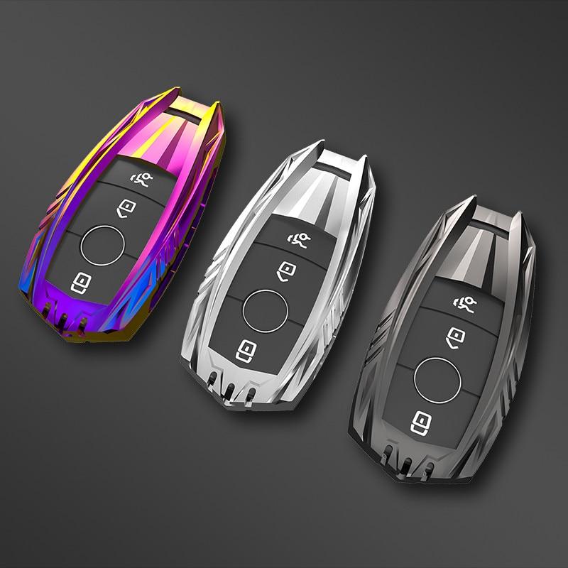 Car Key Case Cover Key Bag For Mercedes Benz A C E S Class W221 W177 W205 W213 Accessories Keychain Car-Styling Holder Shell
