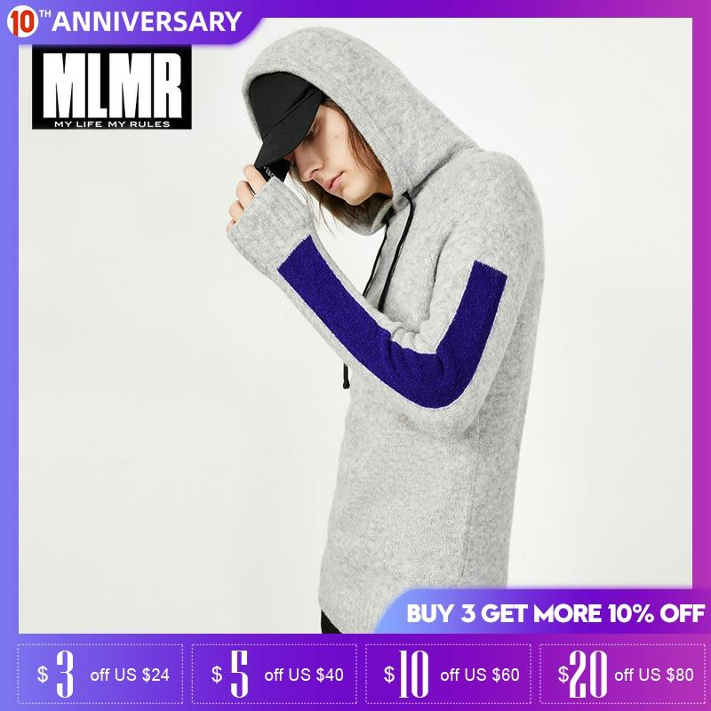 MLMR Autumn And Winter Mens Wool Hooded Pullover Sweater| 218425524