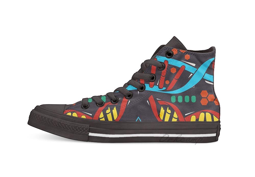 Cosima's ordinateur portable adn peau nouveauté conception haut haut toile chaussures personnalisées chaussures décontractées plat livraison directe