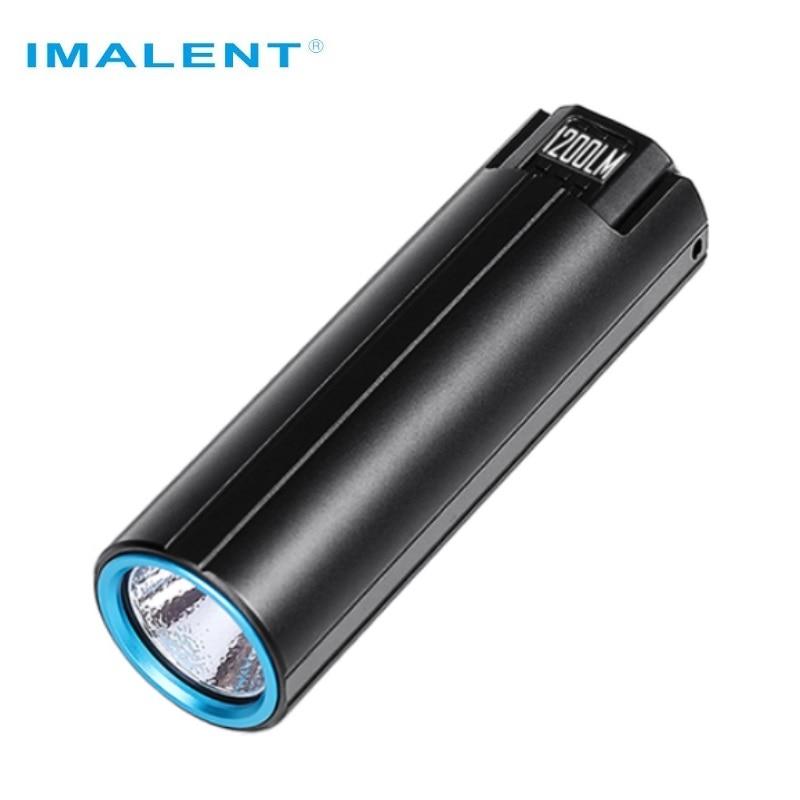 IMALENT LD10  Keychain Flashlight CREE XPL HI 5Modes 1200Lumens OLED Display Magnetical Tail Mini Led Flashlight With Battery