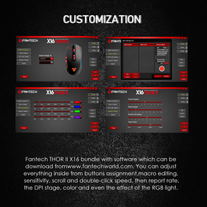 Image 5 - FANTECH HG23 RGB Gaming Headphones And X16 4200DPI 6Button Macro Mouse Mice Suit For Professional Game Player For PUBG LOL Gamer