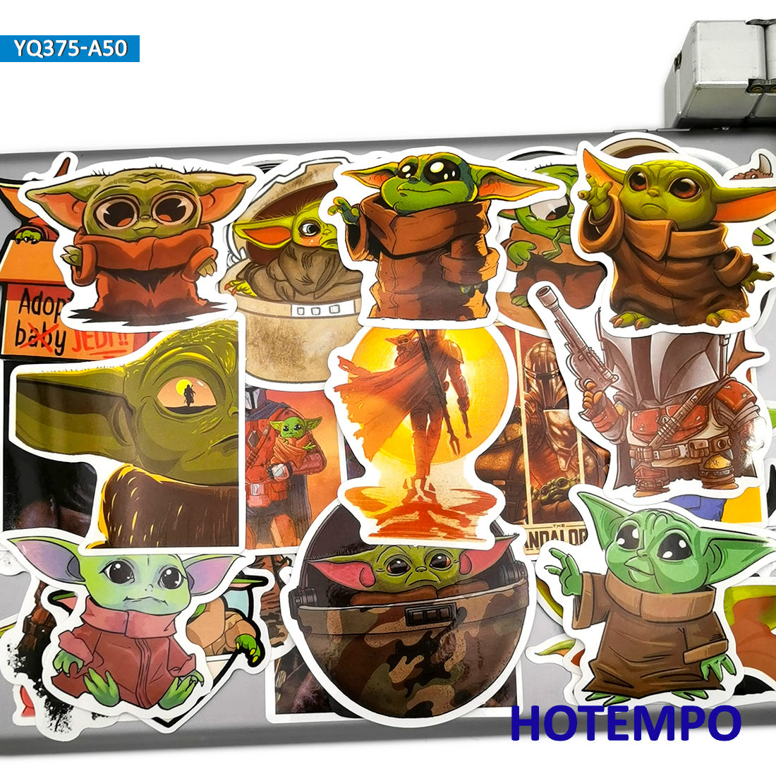 50pcs Alien Baby ET Cartoon Style Stickers Toys for Kids Mobile Phone Laptop Luggage Skateboard Pad Case Car Anime Decal Sticker(China)