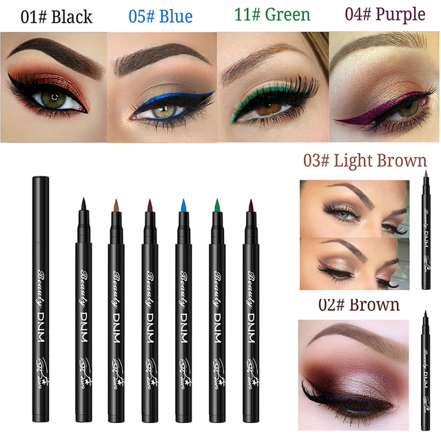 6 Color Long Lasting Eyeliner Pencil Waterproof Eyeliner Smudge-Proof Beauty Makeup Liquid Cosmetic Liquid Eyeliner Pencil