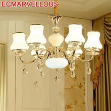 Candiles Colgante Modernos Fixtures Lustre Pendente Crystal Lampen Modern Hanging Lamp Luminaire Suspendu Loft Pendant Light