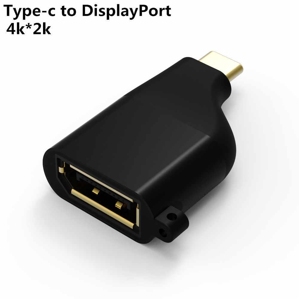 CableDeconn USB-C إلى HDMI ميني ديسبلايبورت DP 4K * 2K VGA 1080P حجم صغير محول محول للحاسوب النقال برو 2018 ديل xps 13