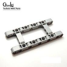5 Stks/partij Hoge-Techmoc Onderdelen 64178 Mocs Beam 5X11 Dikke Frame Bouwstenen Onderdelen Diy Assembleert Deeltjes educatief Gift