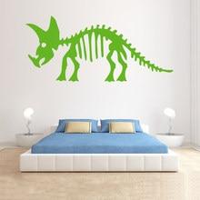 Decal - Dinosaur Boys Room - Wall Decor Triceratops Skeleton - Vinyl Plane Wall Sticker Pattern Single-piece Package PVC boy11