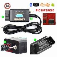 2021 el más nuevo ELM327 USB FTDI PIC18F25K80 FTDI Chip lector de código para Fo-rd HS puede/MS puede Forscan ELM 327 Bluetooth OBDII