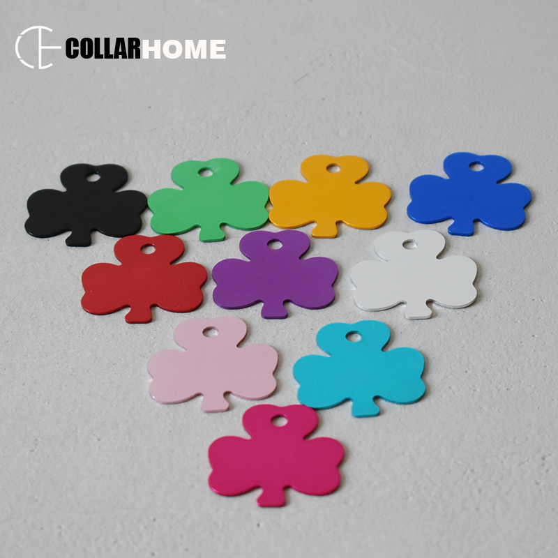 20pcs cute dog ID tags customized pet nameplate puppy cat collar necklace pendant accessories anti lost ID cards in Dog Accessories from Home Garden