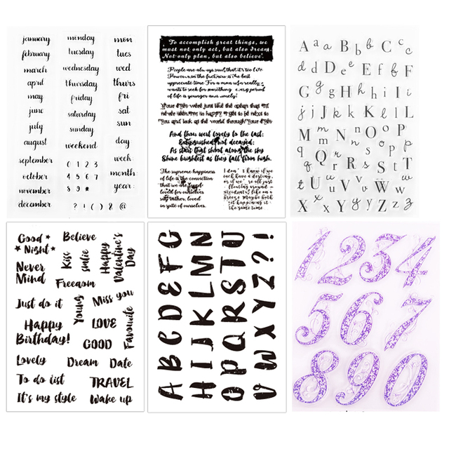 Dolce Vita Months Clear Stamps Word Alphabet Transparent Silicone Stamp Seal for DIY Scrapbooking Paper Card Craft Stamping