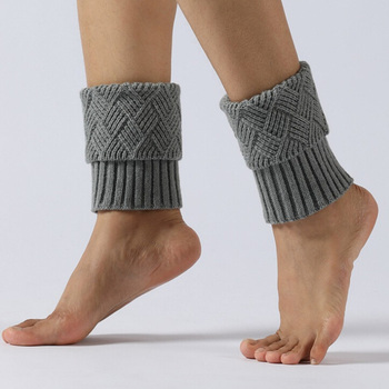 NEW 1 Pair Warmers Autumn Winter Knitting Boot Socks Fashion Women Buttons Leg Short Hollow Boot Cuff Knitting Boot Socks фото