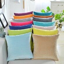 Solid Velvet Pillow Cushion Cover Home New Year Decorative 40*40/45*45/50*50/55*55/60*60cm Kussenhoes Housse de Coussin Cojines