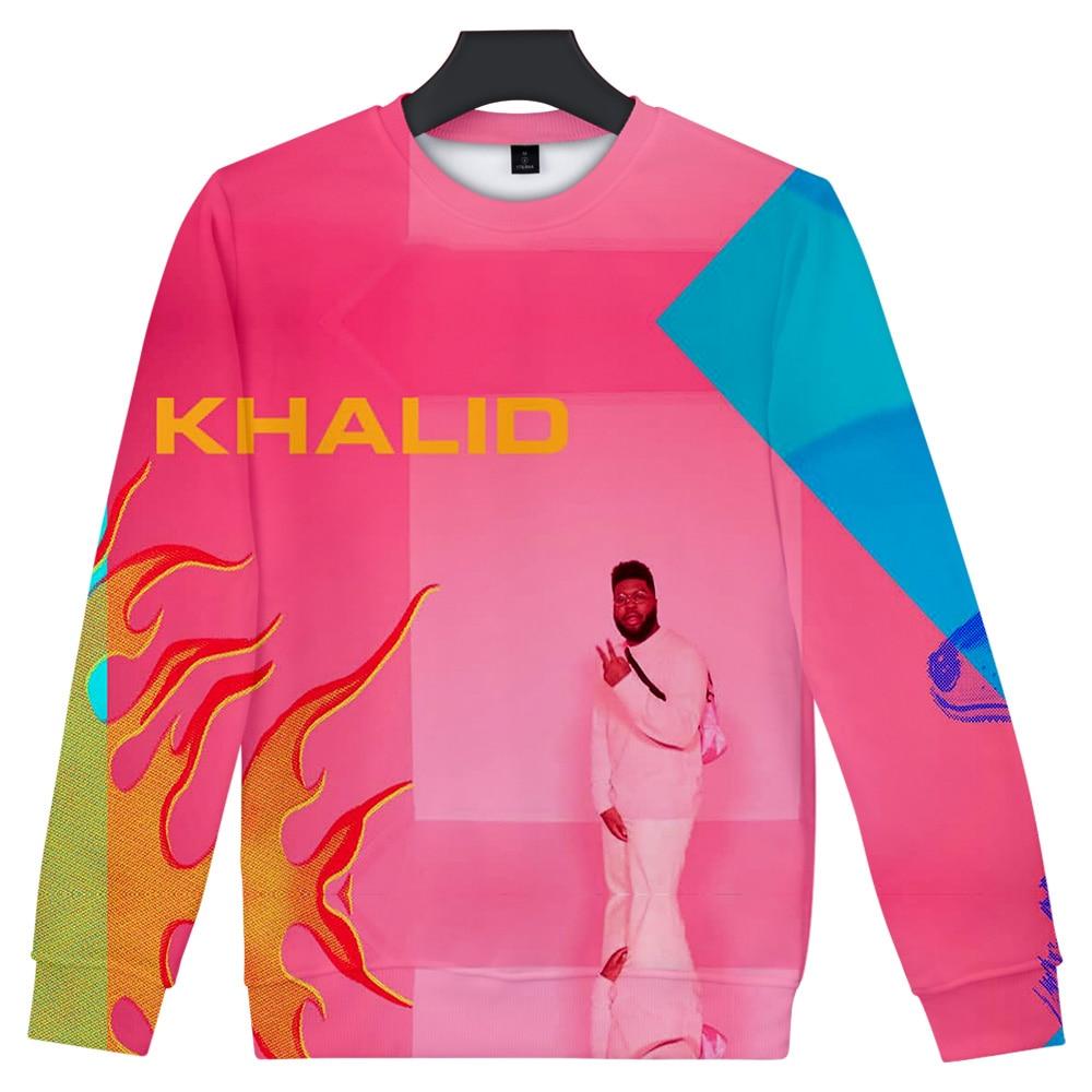 2019 Streetwear KHALID Hoodies Men O-Neck Long Sleeves Cotton Harajuku KHALID Sweatshirt Hoody For Men Streetwear