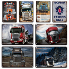 Shabby Chic Scania Metalen Bord Plaque Vintage Garage Home Decor Retro Truck Poster Emaille Borden Woonkamer Farm Muur Decoratieve(China)