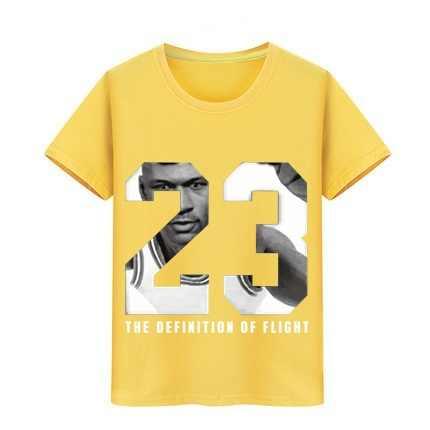 소년 소녀 코 튼 Tshirt 어린이 힙합 스케이트 보드 Teeshirts 십 대 서핑 탑스 티 키즈 T-셔츠 23 농구 선수 T 셔츠