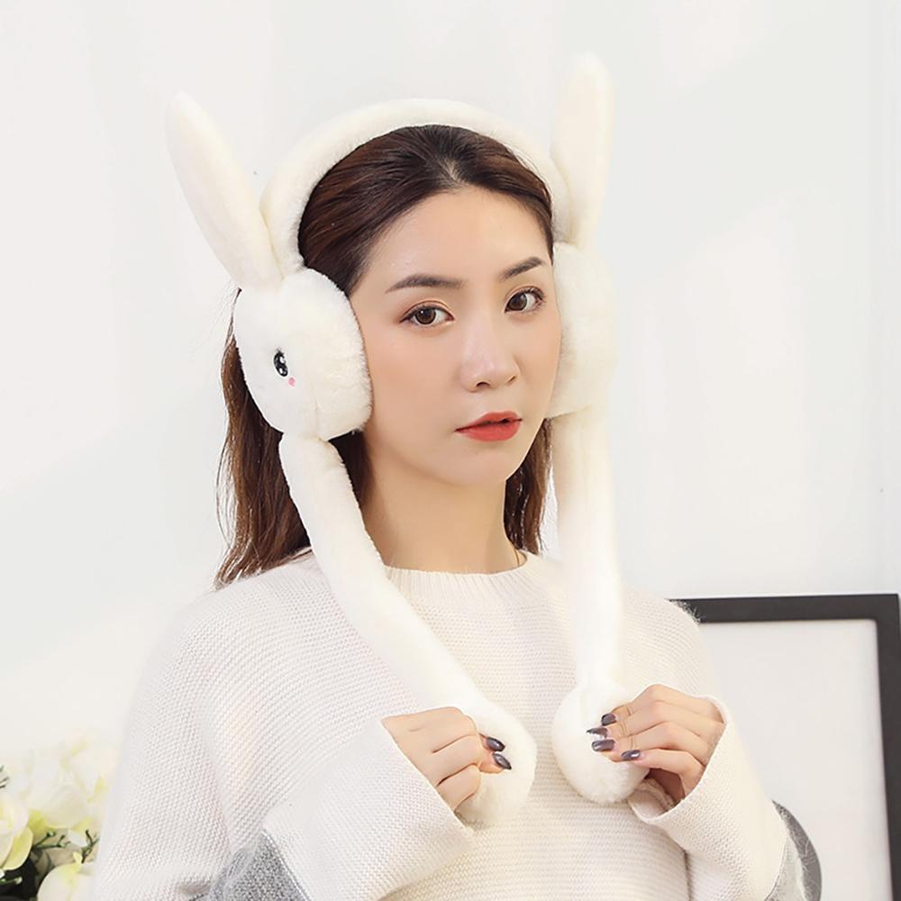 Rabbit Ears Plush Ear Muffs Winter Ears Warmer Collapsible Earmuffs Меховые наушники для согрева ушей Head Warmer #TN28