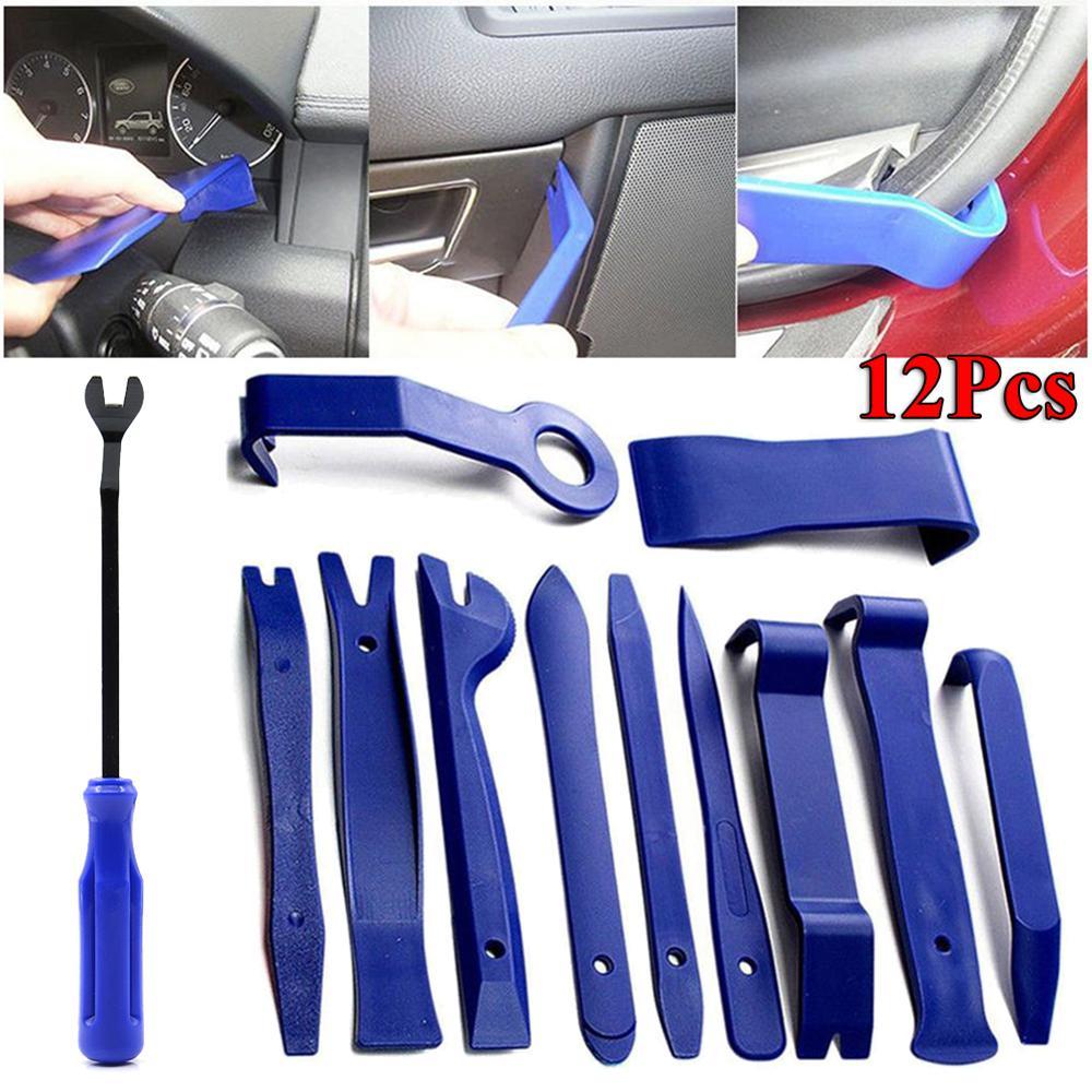 12pcs Car Trim Disassembly Tools DVD Stereo Refit Kits Interior Plastic Trim Panel Dashboard Installation Removal Repair Tools