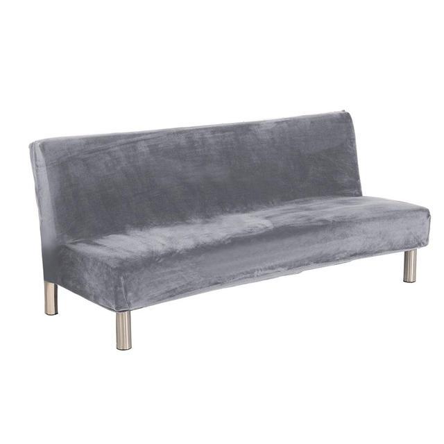 Новый высококачественный удобный толстый плюшевый чехол для дивана, чехол с полным покрытием, раскладной диван кровать без подлокотника, оптовая продажа