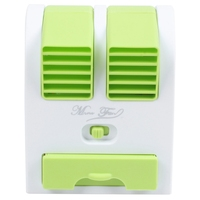 Mini Usb Small Fan Cooling Portable Desktop Dual Bladeless Air Conditioner|Fans| |  -