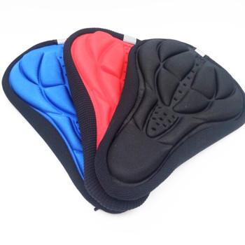 1PC siodło rowerowe 3D miękki pokrowiec na siodełko rowerowe wygodna piankowa poduszka do siedzenia siodełko rowerowe do rowerów akcesoria rowerowe tanie i dobre opinie Przednim siedzeniu maty Włókno węglowe 28cm*16cm*2cm Rowery górskie HXJ363 black blue red orange close skin breathable Bicycle Saddle