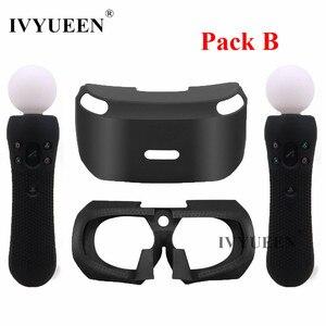 Image 2 - Ivyueen Voor Sony Psvr Glas Beschermende Siliconen Skin Case Voor Playstation Vr Move Motion Controller Cover Voor Ps Vr Headset