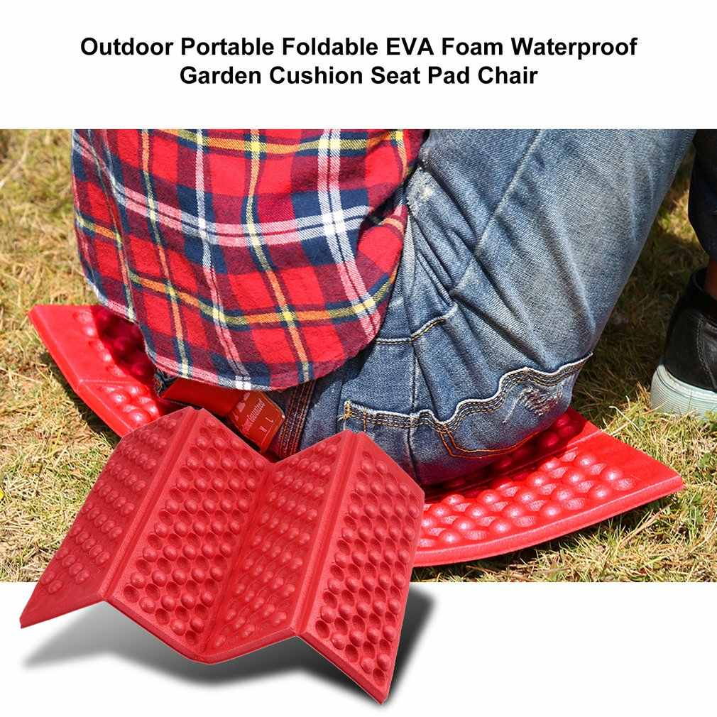 Al aire libre portátil plegable de espuma EVA a prueba de agua cojín de jardín asiento almohadilla silla para al aire libre