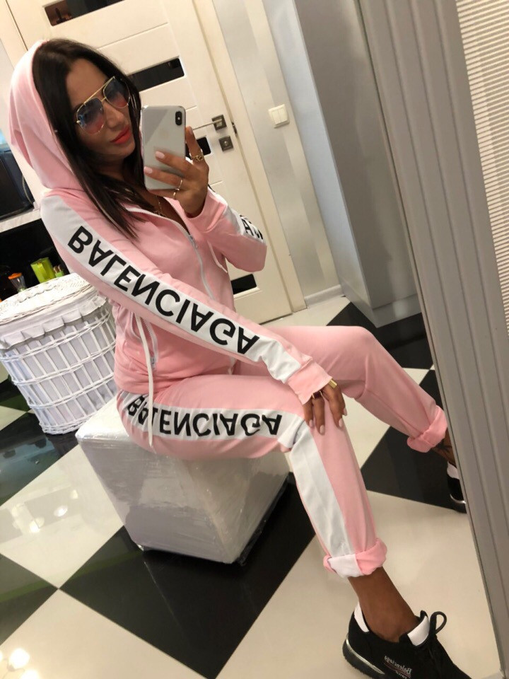 2019 Women's North American Style Fashion Hooded Jacket Sports Casual Suit Fashion Zipper Suit Casual Straight Pants Sport Suits
