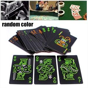 Cartão de jogo brilho na barra escura festa ktv noite luminosa coleção especial poker jogo de tabuleiro jogo de poker