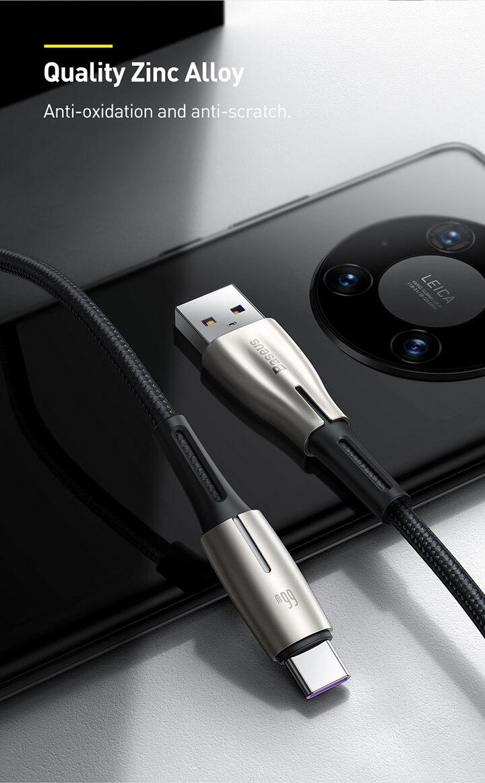 Baseus 66W 6A USB Type C Super Charge Cable 8