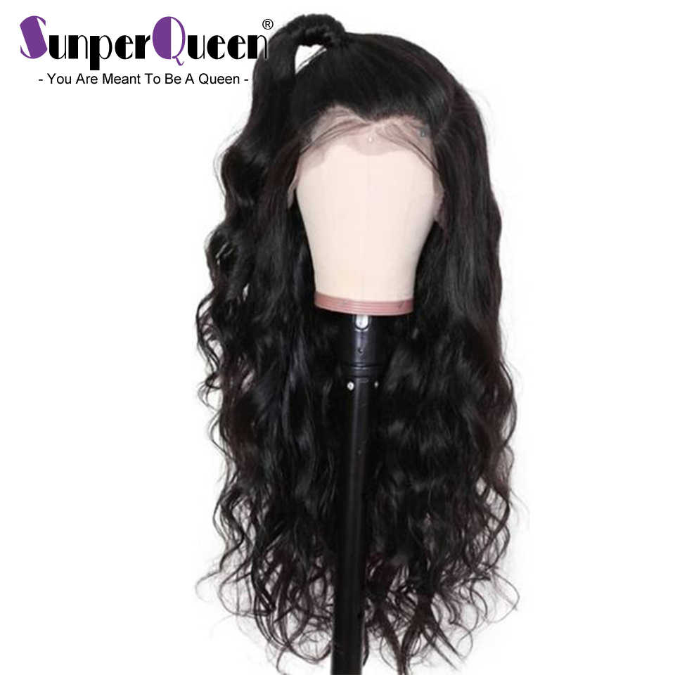 Sunper Queen Body Wave 13x6 Lace front 8-30 M Remy Human Hair Wigs Natural Color For Black Women Brazilian Lace Wig Pre Plucked