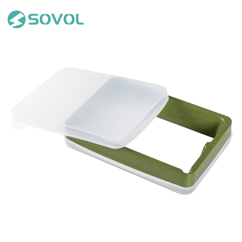 Sovol Resin Vat Set Teflon Surface Die cast Aluminum Resin Tank with FEP Film and Covers