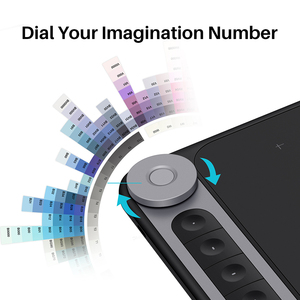 Image 4 - Huion New Arrival Inspiroy Dial Q620M Graphic Tablet Wireless Drawing digital Pen Tablet with Dial for PC and Android