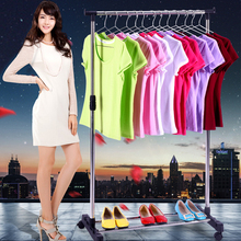 Standing Floor Removeable Adjustable Rolling Clothes Hanger Storage Clothing Drying Coat Racks With Shoe Rack