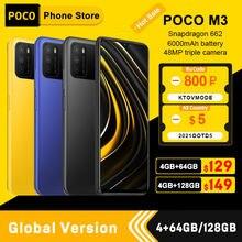 Versão global poco m3 smartphone snapdragon 662 4gb 64gb/4gb 128gb 6.53