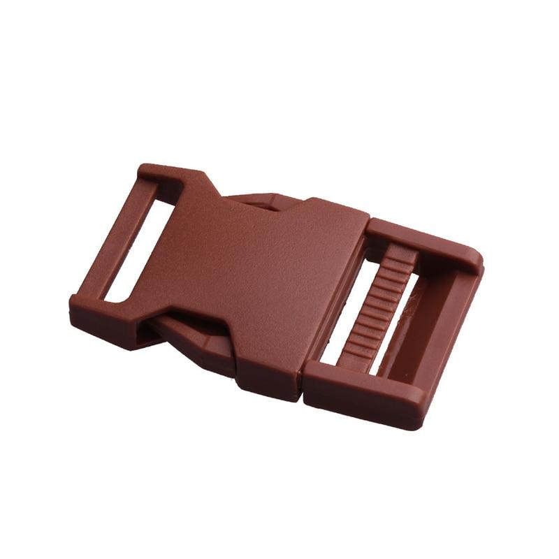2 шт 25 мм Красочные пряжки ABS застежки для Паракорда браслет рюкзаки одежда сумки запчасти - Цвет: Brown