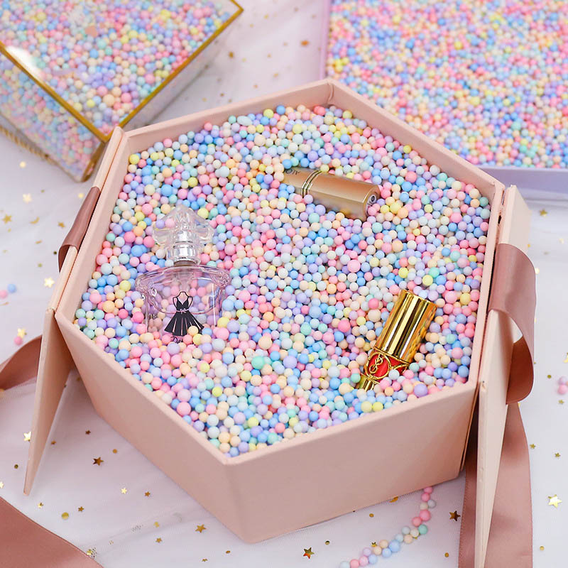10g-50g Macarone color Foam Balls filler gift box filing Polystyrene bead DIY toy cand box gift boxes decoration accessiories