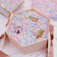 Remplissage de boîte-cadeau en polystyrène 10g – 50g, boules de mousse de couleur macaron, pour limer des perles en polystyrène, boîte-cadeau de bricolage, accessoires de décoration