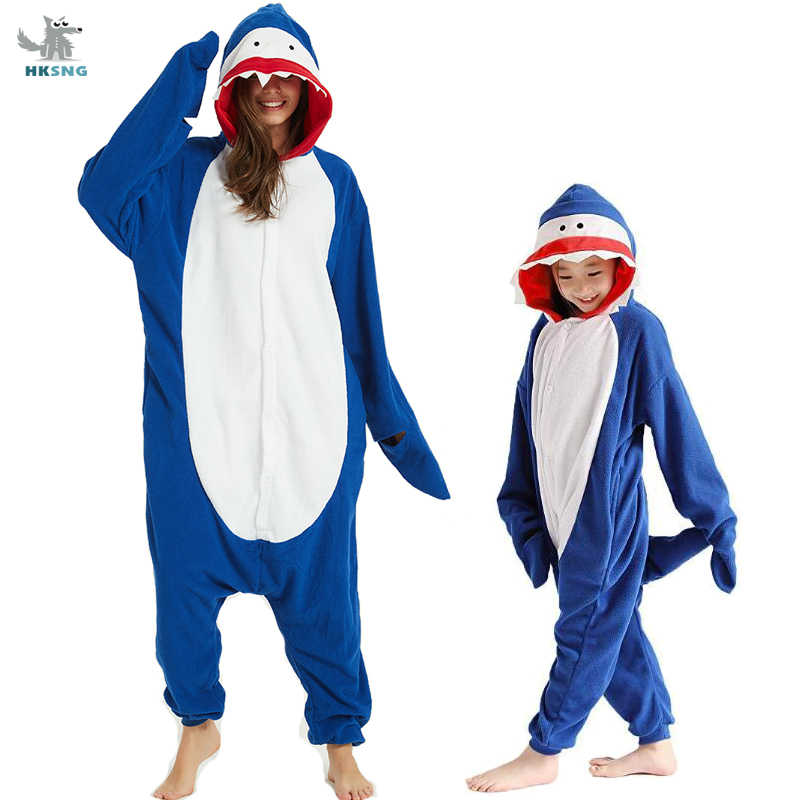 Halloween Cosplay 3D Shark Animal Pyjamas Costume Adult Unisex Sleepwear