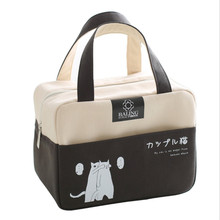 Cartoon Lunch Bag Thermal Box Tote Cooler Bag Portable Insulated Canvas School Food Storage Picnic Bags For Women Kids цена и фото