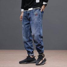 Newly Japanese Style Fashion Men Jeans Loose Fit Retro Denim Harem Pants Homme Vintage Designer Hip Hop Taper Trousers