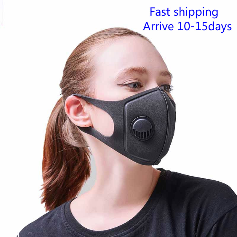 10 PCS Anti-Pollution Mask Anti Air Dust  Smoke Pollution Face Mask With Adjustable Straps And Washable Respirator Black Mask
