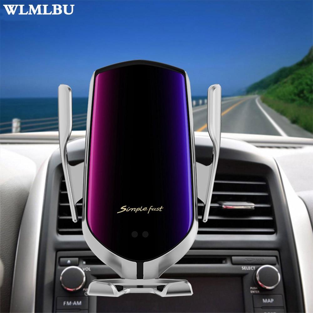 Livraison directe serrage automatique 10W voiture chargeur sans fil pour iPhone Xs Huawei LG infrarouge Induction Qi chargeur sans fil voiture