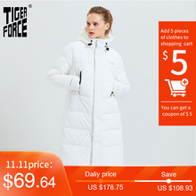 Puffer Coat Parka Jacket Woman Tiger-Force Female Warm Long Fashion Casual Winter